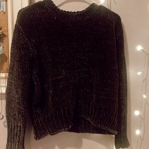 Olive green chenille sweater from forever 21